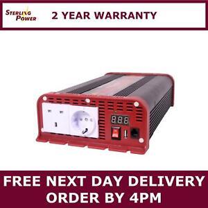 Sterling Power Pure Sine Wave Inverter 24V 2200W RCD – SIBR242200