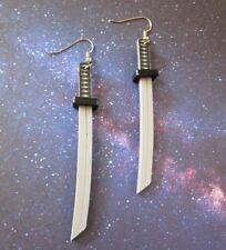Japanese Samurai Katana Sword Lightweight Pendant Dangle Earrings DC Cosplay
