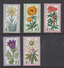 WEST GERMANY MNH STAMP DEUTSCHE BUNDESPOST 1975 FLOWERS FULL SET  SG 1762-1766