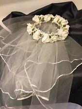 Vintage Wedding Head Dress Acorn Ribbon Short Veil