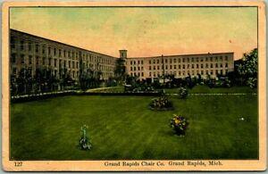 Vintage 1909 Michigan Postcard GRAND RAPIDS CHAIR COMPANY Factory View w/ Cancel