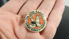 Lone Ranger Sunday Herald and Examiner Pin Button