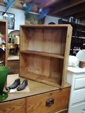 Reclaimed pitch pine shelves made in our workshop