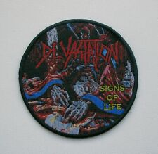 DEVASTATION [black] --- Woven Patch / Demolition Hammer Sadus Morbid Saint