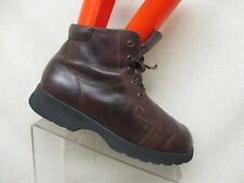 Naot Modern Brown Leather Lace Up Ankle Fashion Boots Bootie Size 40 EUR