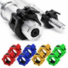 "1 Pair Olympic 1"" 2"" Spinlock Collars Barbell Dumbell Clip Clamp Weight Bar Lock"