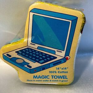 Laptop Computer Magic Washcloth Compressed Rare Design One Of A Kind