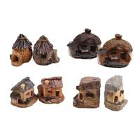 Mini Resin Miniature House Micro Landscape Ornament Fairy Garden Decor Crafts