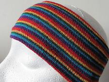 Comercio Justo Fabuloso! NEPALÍ Rayas Hippy diadema multicolor (shb3)