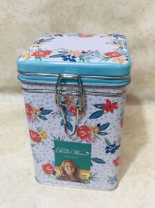 The Pioneer Woman Locktop Square Tin Cookie Treat Canister NEW