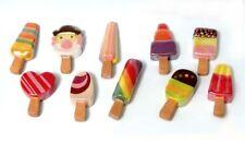 Fèves de collection en porcelaine _ LES SORBETS POP _ Série complète 10 fève