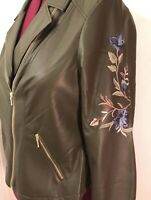 ⭐️$139 New w Tag Sz 3 INC International Concepts Embroidered Moto Jacket