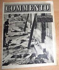 SETTIMANALE ILLUSTRATO PER TUTTI   COMMENTO  N°  31 1947  ORIGINALE !!!