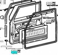 TOYOTA 67620-90304 Front Door Trim Board SUB ASSY LH Genuine Parts LAND CRUISER