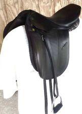 "BARELY Used 18 1/2"" STUBBEN GAITED CS W/ FITTINGS black leather pleasure saddle"