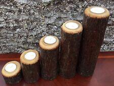 Natural Wood Candle holders Tea light Wedding Decor Rustic Cabin Decor Primitive