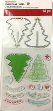 RECOLLECTIONS CLEAR STAMPS & DIE SET ~CHRISTMAS TREES CODE 529293