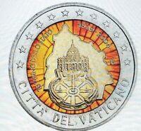 2 Euro Gedenkmünze Vatikan 2004 coloriert mit Farbe/ Farbmünze Vatikanstaat