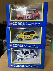 Corgi Collection Mini Monte Carlo, Mini RAC Rally & Mini Gilislaved Bundle