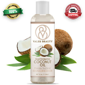 Fractionated Coconut Oil 4oz 100% Natural For Aromatherapy Skin Hair & Massages