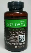 Amazon Elements Men's One Daily Multivitamin, 62% Whole Food Cultured - 65 Table
