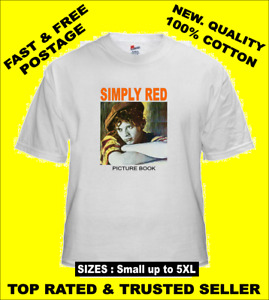 Tee Shirt new adult unisex new wave soul SIMPLY RED Picture Book cotton t shirt