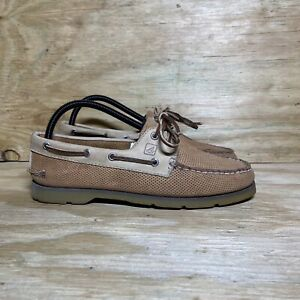 Sperry Leather Boat Shoes, Men's Size 8, Brown/Tan