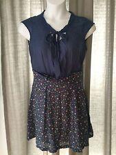 NEW ProMod Dress 10 Slate Blue Polka Dots NWOT
