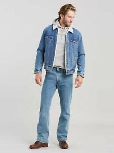 Levis Mens 517 4891 Classic Boot Cut Light Blue Work Denim Jeans Size 30 x 34