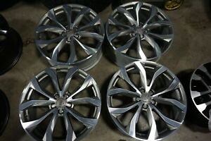 """20"""" Audi A6 S-Line Factory OEM Gray machined Wheels Rims Reconditioned 58897"""