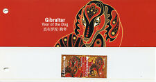 Gibraltar 2018 MNH Year of Dog 2v Set Pres Pack Chinese Lunar New Year Stamps