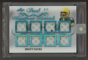 2019 Leaf Pearl Magnificent Materials Platinum Brett Favre GU Jersey Patch /4