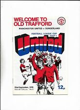MANCHESTER UNITED V SUNDERLAND 22/09/1976 LEAGUE CUP 3RD ROUND  (c)
