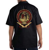 Dickies Mechanic Work Shirt Americas Original Motorcycle Rider Indian Skull