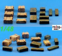 Redog 1:48  Boxes and crates mix - modelling/diorama accessories // 48b1