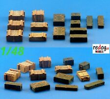 Redog 1:48 Boxes & Crates Military Scale Modelling Stowage Accessories Kit 1
