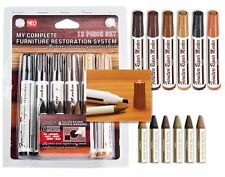 12 Pc Furniture Restoration Wood Stain Markers Set with Filler Sticks