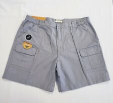 Savane Men's Hiking Cargo Shorts Size 42 Gray With Tech Pocket 100% Cotton New
