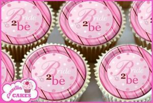 EDIBLE ICING SHEET - 24 X PINK HEN PARTY NIGHT CUPCAKE TOPPERS CAKE 8682