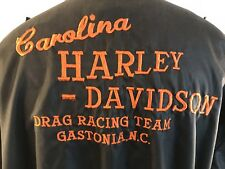 Vintage 1980s Harley Davidson Motorcycles Drag Racing Team Dealership Jacket XXL