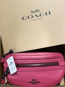 AUTHENTIC COACH BELT BAG Vale 84230 PINK double zip Handbag/Wallet/Crossbody