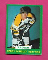 1973-74 OPC # 254 BRUINS TERRY OREILLY  ROOKIE EX CARD (INV# D2469)