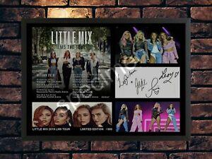 LITTLE MIX SIGNED 2019 LM5 TOUR  A4 AUTOGRAPHED PHOTO PRINT