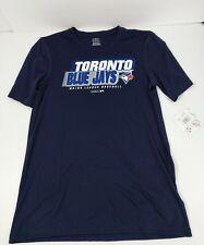 Toronto Blue Jays Youth T-Shirt Size XL 18 Blue Short Sleeved MLB Polyester New