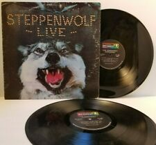 STEPPENWOLF Live 2xLP Gatefold Dunhill DSD 50075 - Play Tested VG+  *A4