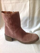 Amber Pink Ankle Suede Boots Size 41