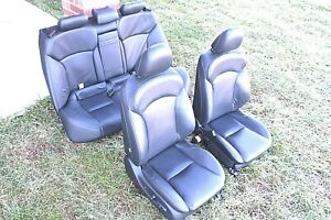 2010-2015 LEXUS IS 250 FRONT AND REAR LEATHER SEATS SET BLACK ASSY OEM