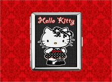 HELLO POLKA DOT KITTY GOTH KAWAI METAL WALLET CARD CIGARETTE ID IPOD CASE