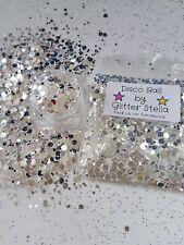 Nail Art Mixed Glitter ( Disco Ball ) 10g Bag Chunky Silver Dots  1/2/3mm