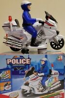 Kids Bump & Go Police Motor Bike Battery Operated Toy Great Gift for Boys Girls